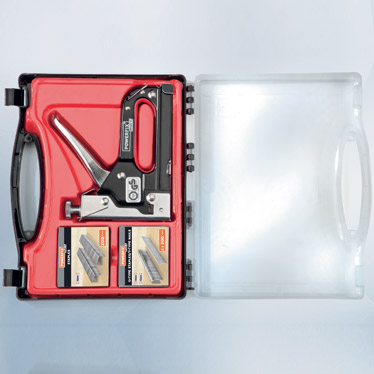 Grapadora manual 1500 grapas clavos maletin grapar - Clavos para tapizar ...