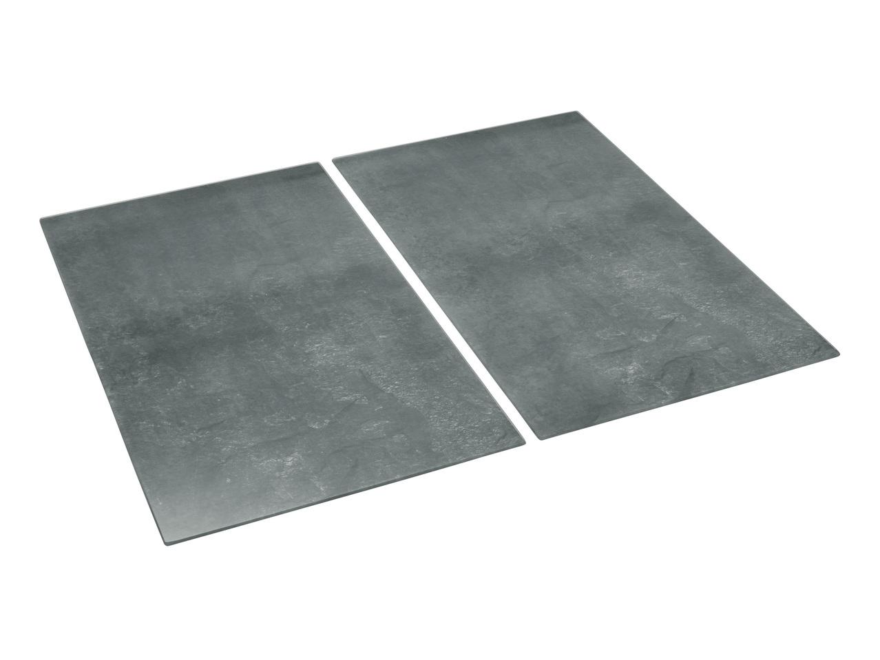Plat En Verre Sur Plaque Induction 2 couvre-plaques de cuisson en verre - lidl — france