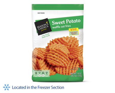 how to make waffle cut sweet potato fries
