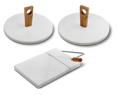 Crofton Marble Cutting Board With Slicer Or Marble Serving