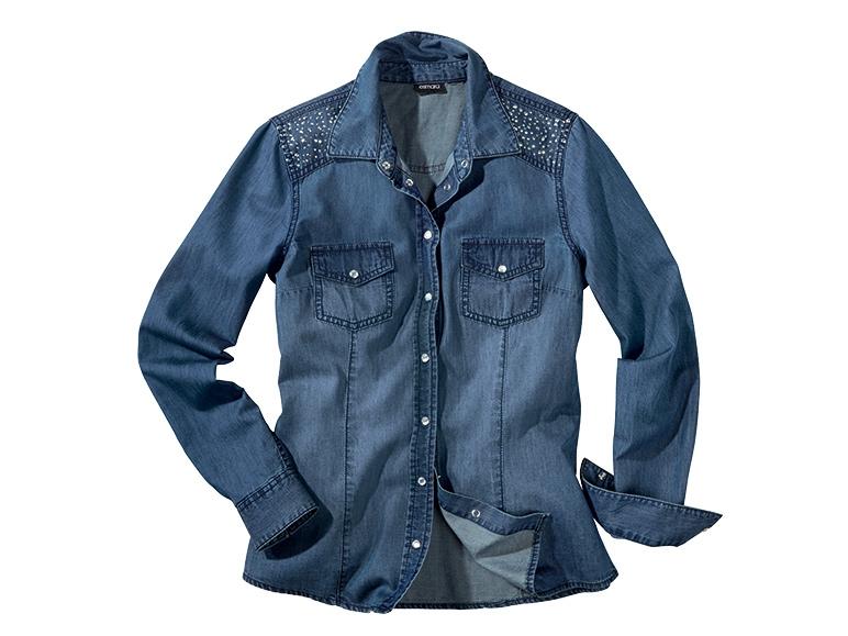 économiser 8c2bd bf64c On Cintree Femme Chemise En Jeans Femme chemise Jean 8wOmNyv0n